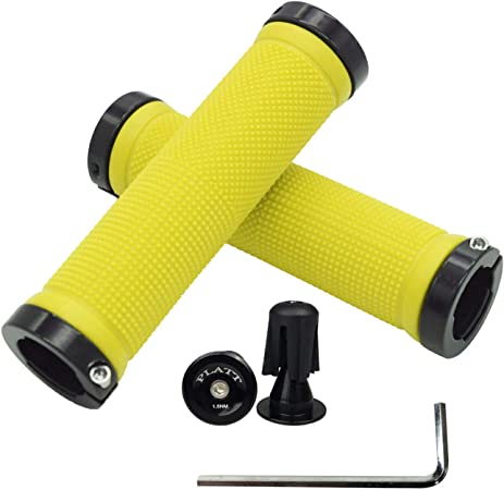 Platt Bicycle Handle Bar Grips Colorful Rubber Bike Grips Comfortable Bicycle Grips for BMX/MTB Bikes