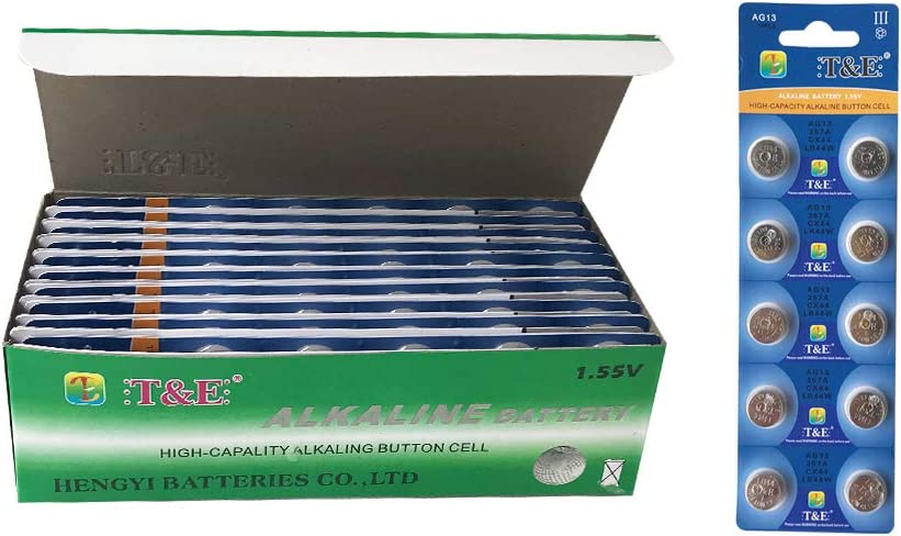 AG13 357A CX44 LR44W Alkaline Long-Lasting Leak-Proof Household Batteries 200pcs 20 Pack