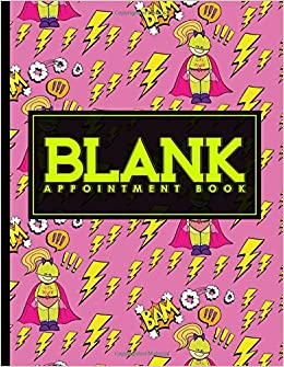 Blank Appointment Book 2 Columns Appointment Calendar Appointment