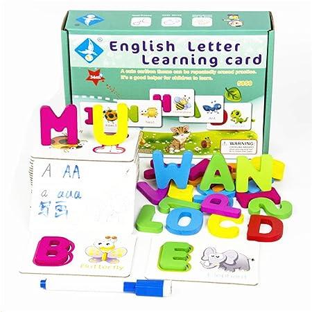 Junlinto, Baby Toddler ABC Letters Tarjetas de Aprendizaje Dry ...