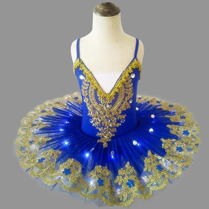 ZHANGQIAN Iluminado Ballet Falda Adulto LED Traje con Luces ...