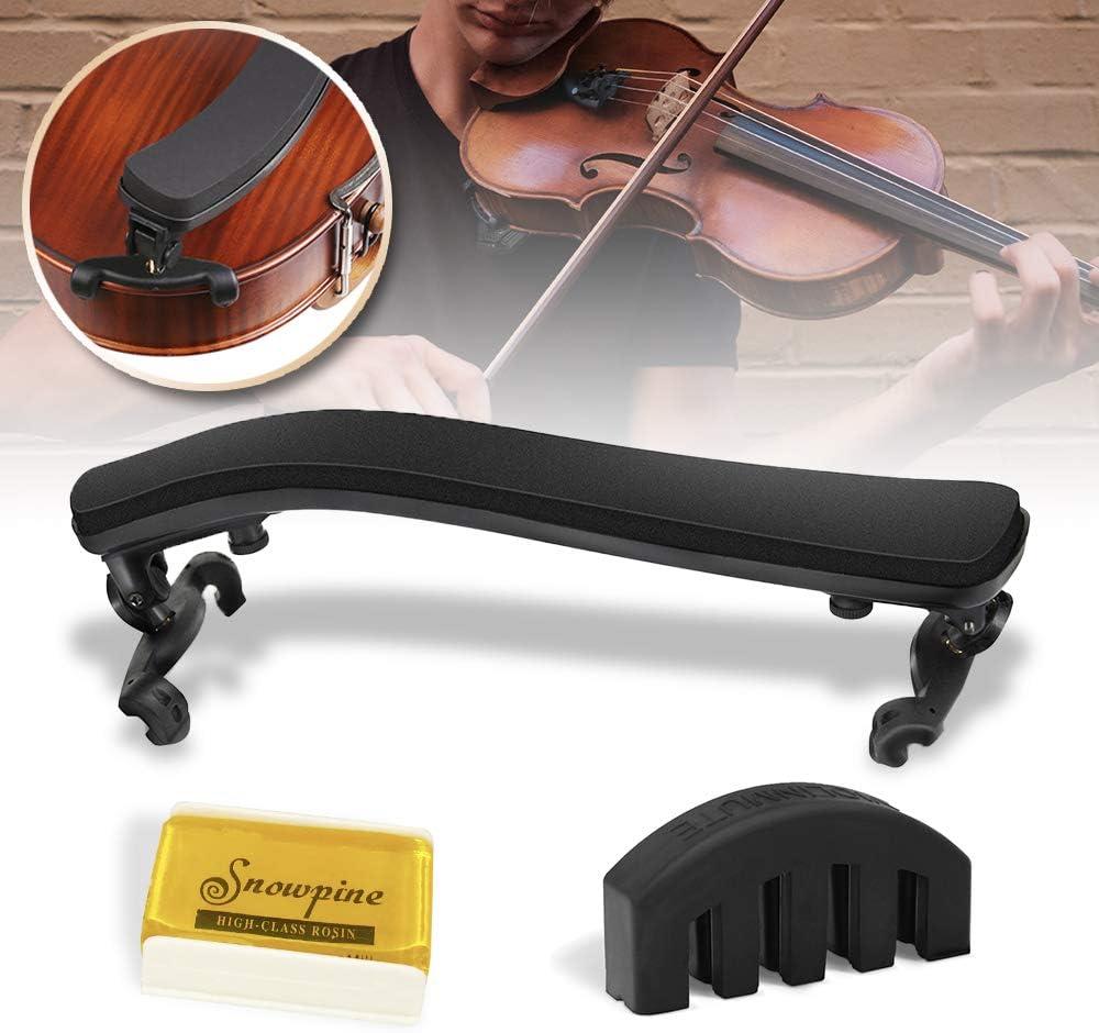 Artibetter Violin Shoulder Rest 4//4 and 4//3 Size Shoulder Rest for Violin Beginners and Professionals Violin Parts Accessories Black