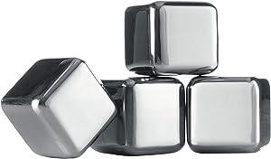 Vacu Vin Whiskey Stones (Set of 4), Stainless Steel