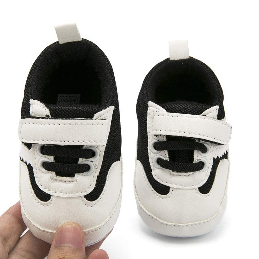 Sawimlgy Infant Baby Boys Girls Sneakers Outdoor Shoes with Non-Slip Sole Adjustable Toddler First Walkers Crib Shoes