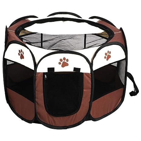 Riuty Portátil Plegable Carpa para Mascotas Jaula para Perros Gatos Barrera de Entrenamiento Ideal para Perros