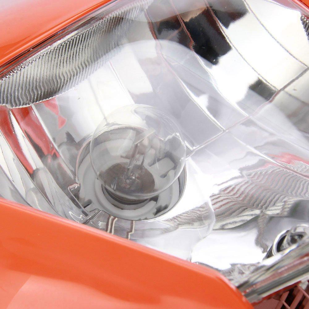 Universal Headlight Head Lamp Light Fairing Street Fighter Mask Day Running Light Turn Signal Lights For ATV Scooters Dirt Pit Bike Enduro Black