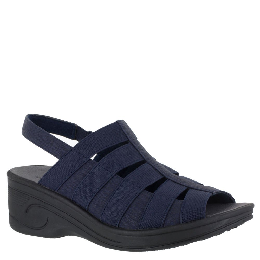 SoLite by Easy Street Floaty Women's Sandal B079H6MB2H 9M|Navy/Gore
