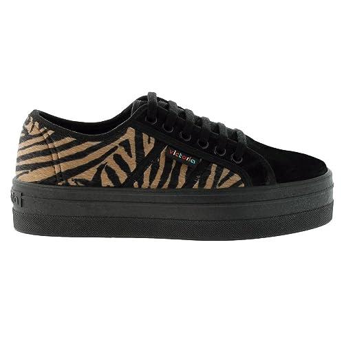 Zapatillas Victoria 09208 - Blucher Print Animal Plataforma mujer: Amazon.es: Zapatos y complementos