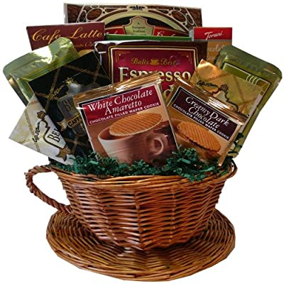 Cafe Comforts Coffee and Snacks Gift Basket Set