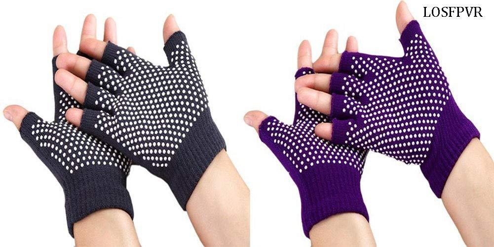 Amazon.com : Pilloit LOSFPVR Yoga Gloves Breathable Non Slip ...