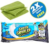 #9: Green Gobbler CLEAN & SHINE Waterless Car Wash Auto Towels for Interiors & Exteriors cleaning (Super thick absorbent pre moistened towels,Coconut Scented) 20 Count + 2 Microfiber Cloths