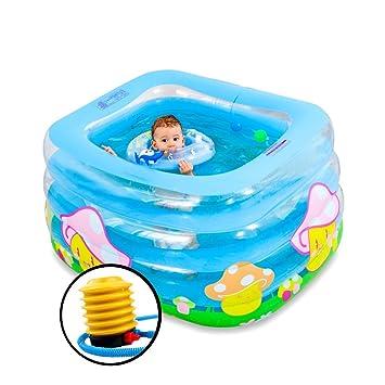 FJH Bañera Piscina inflable del bebé del aislamiento de la piscina ...