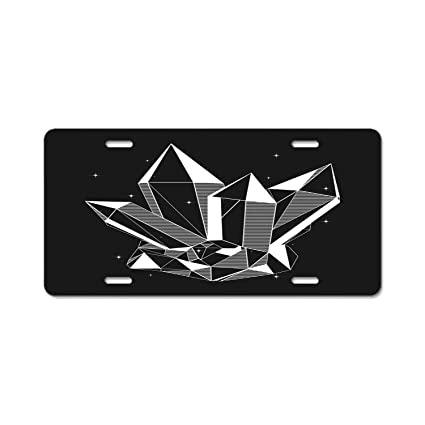 YEX Abstract Fractal Rays License Plate Frame Car Tag Frame Auto License Plate Holder 12 x 6 Exterior Accessories