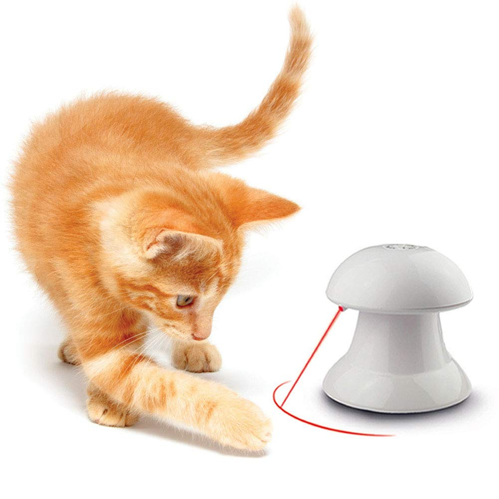 Cat Laser Toy, Automatic Non-Handheld Cat Chaser Toy, Auto Rotating Light Cat Chaser Toy for Cats and Dogs