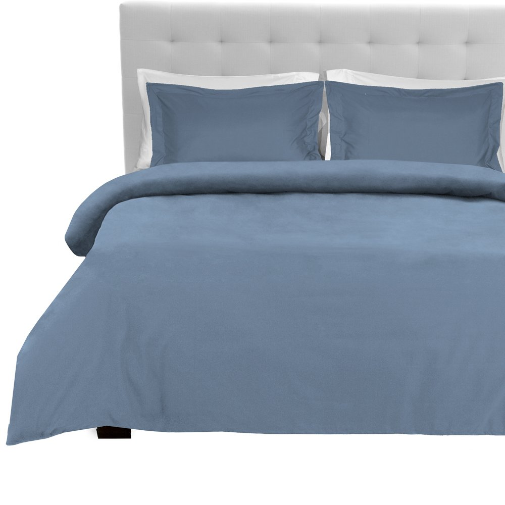 Luxury 3 Piece Duvet Cover and Sham Set - Premium 1800 Ultra-Soft Brushed Microfiber - Hypoallergenic, Easy Care, Wrinkle Resistant (King, Coronet Blue)