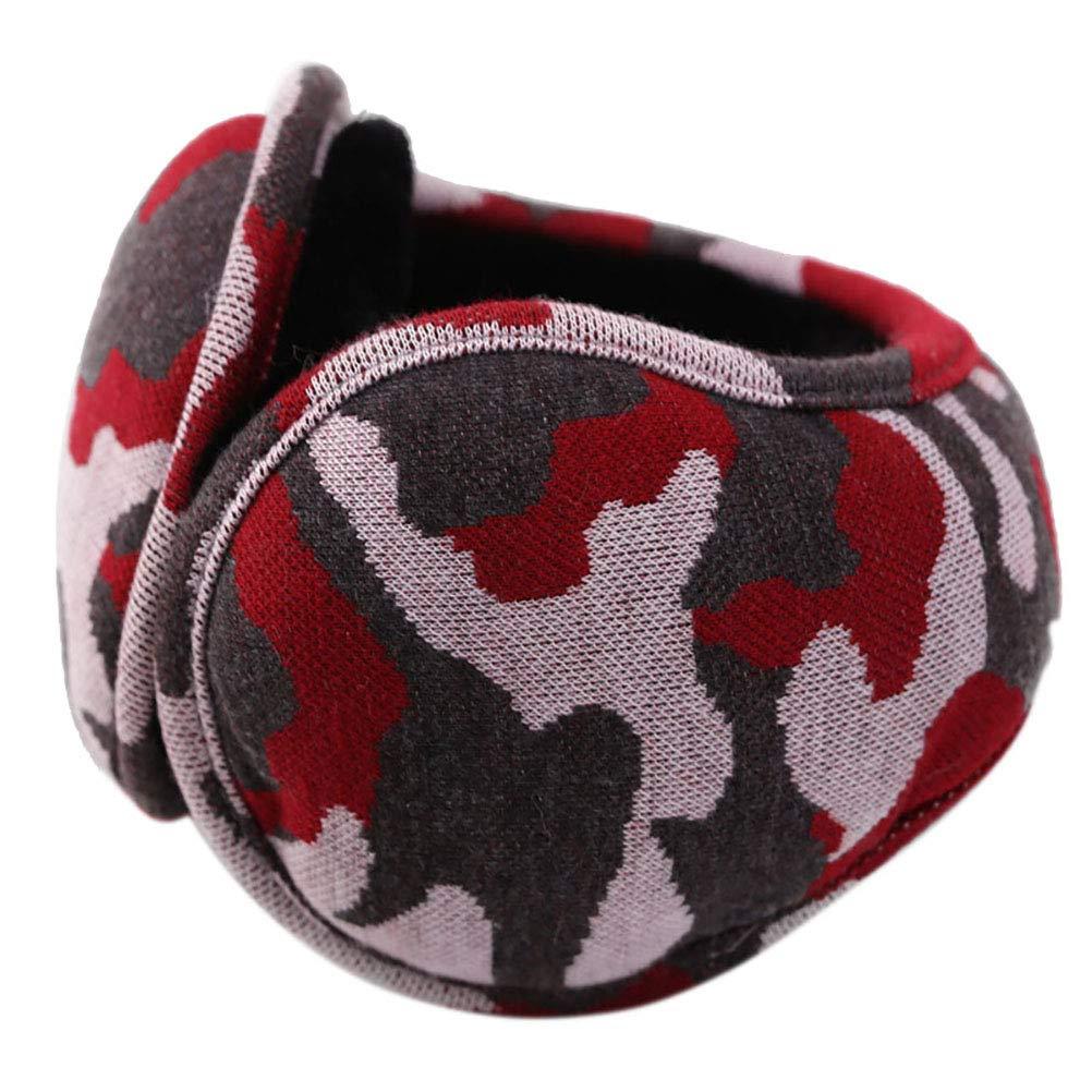 ENCOCO Winter Earmuffs,Unisex Foldable Fleece Earmuffs,Camouflage Earmuffs Ear Warmers