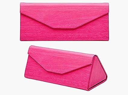 Vi.yo 1 Pièce Lunettes Soleil Case Faux Cuir Triangulaire Foldable Sac Lunettes Facile Transporter (Brun foncé) yi9ElQY6
