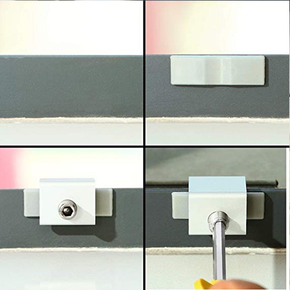 8 piezas de seguros deslizantes ajustables de aleación de aluminio con llave para ventanas correderas y marcos de puertas: Amazon.es: Bricolaje y ...