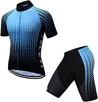 TZTED Ciclismo Maillot Hombres Transpirable Maillot Ciclismo + ...