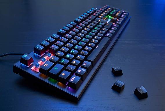 The G Lab KEYZ-CARBON-V2/SP Teclado Gaming Con Retroiluminación Switch, Negro: The: Amazon.es: Informática