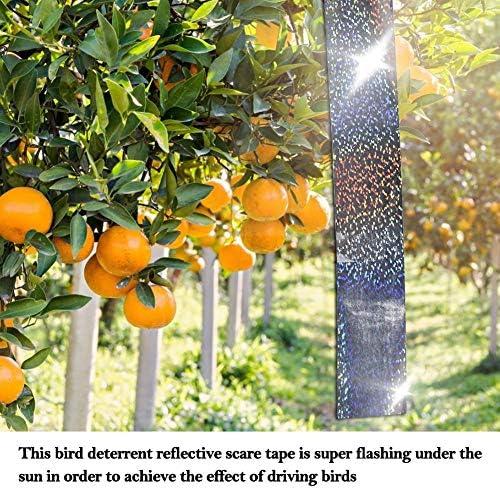 5cm * 45m テープ リボン防鳥警告フラッシュ反射ベルト害虫駆除用 (diamonds)
