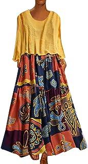 Women Designer 2 Piece Kurta Maxi Dress Floral Cotton Kurti Indian Custom Clothing Wrist Print Vintage Maxi Dress