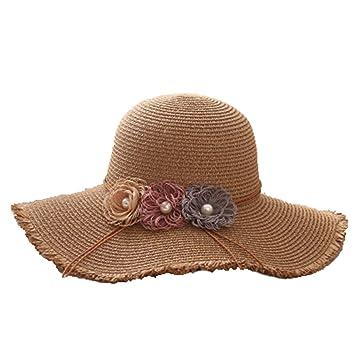Eric Hug hat Ladies Summer Straw Hats Female Foldable Beach Sun Hats Solid Large  Big Wide cf78340bbf96