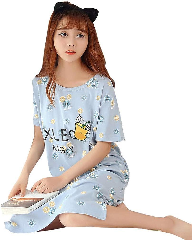 Camisón Mujer, Verano de Algodón Manga Corta Camisónes Vestido Cuello en Redondo Loungewear, 5, XL: Amazon.es: Ropa y accesorios
