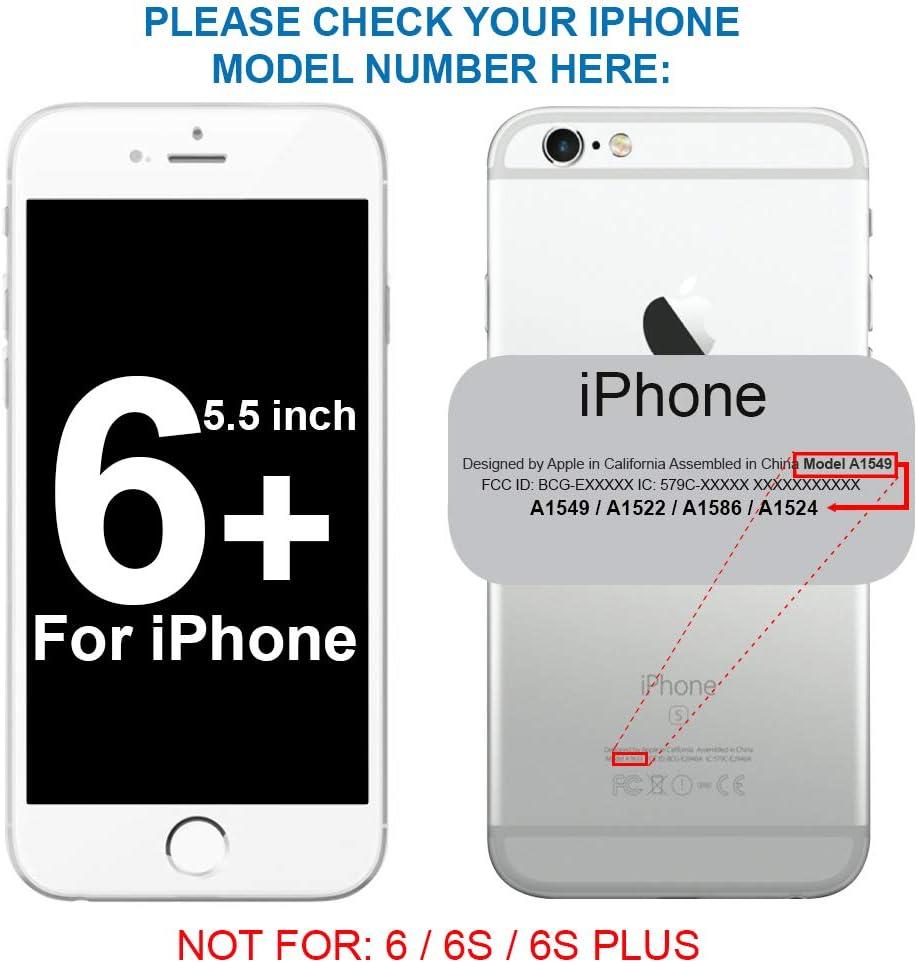 MMOBIEL GPS Cubierta/Soporte para Antena WiFi WLAN Compatible con iPhone 6 Plus con Tapa de retención y cintilla Incl. 2 x Destornilladores