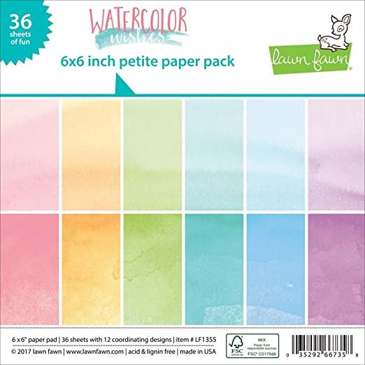 "Lawn Fawn Petite Paper Pack - LF1355 Watercolor Wishes 6""X6"""