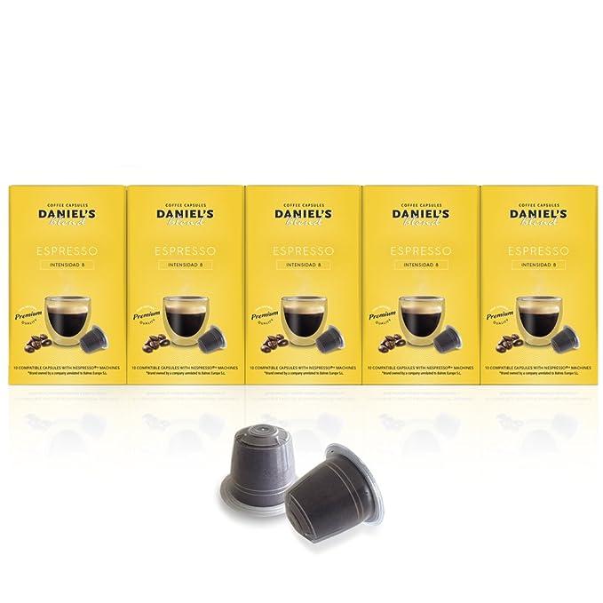 DANIELS BLEND - 50 Cápsulas de Café Compatibles con Máquinas Nespresso - ESPRESSO