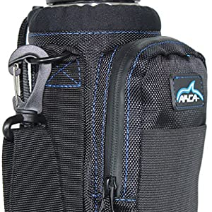Arca Gear Hydro Carrier for 32 oz Water Bottles - Stay Hydrated Not Hassled / Dual Carry Handles, Water Resistant Pocket fits ANY Cell phone, Built in Wallet and Adjustable Shoulder Strap
