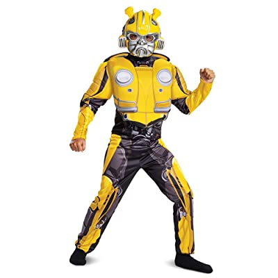Transformers Bumblebee Movie Classic Bumblebee Muscle Costume for Kids: Toys & Games