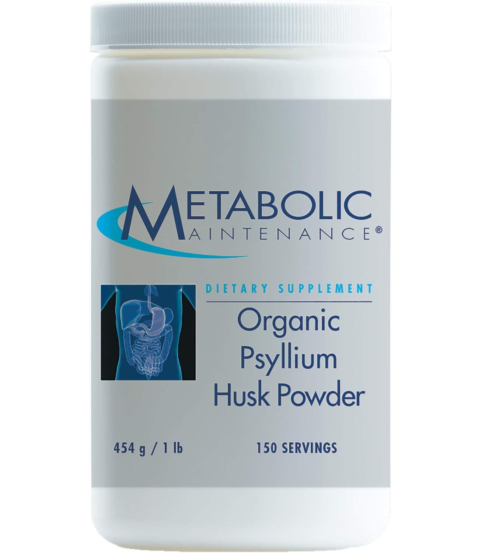 Metabolic Maintenance Organic Psyllium Husk Powder - Soluble Fiber for Digestion + Regularity Support (1 Pound, 150 Servings)