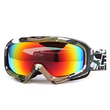 SE7VEN Gafas de esquí anti niebla,Doble capa Luz polarizada Gafas de nieve Unisex Compatible
