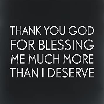 Amazoncom Thank You God For Blessing Me Aluminum Metal Sign Black