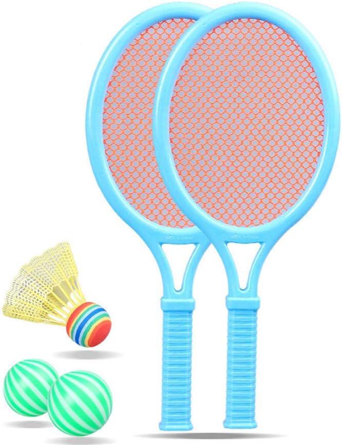 ddmlj Raqueta De Tenis para Niños Deportes Al Aire Libre Raqueta De Bádminton Juego De Juguetes De Plástico para Playa Jardín De Infantes De Clase Pequeña Y Grande