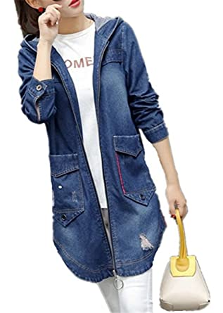 Emin Frauen Herbst Mode Denim Jacket Damen Mädchen Beiläufig