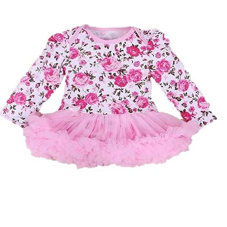 Para bebés 0 – 24 meses, webla infantil bebé Pelele de chica tutú vestido Sets