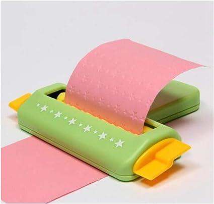Herramienta de mano de papel para repujado, para manualidades, para álbumes de recortes, escuela, regalo de bebé, color 01 talla única: Amazon.es: Oficina y papelería