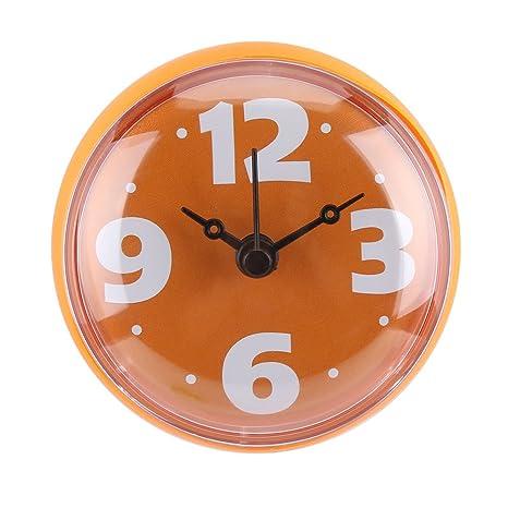 Horloge De Salle De Bain Avec Ventouses   Pendule Murale Pour Douche à  Accrocher, Étanche