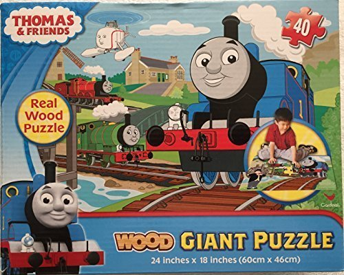 Engines Thomas Floor Puzzle - Thomas & Friends 40 Pieces Wood Giant Floor Puzzle by Cardinal Games 90077