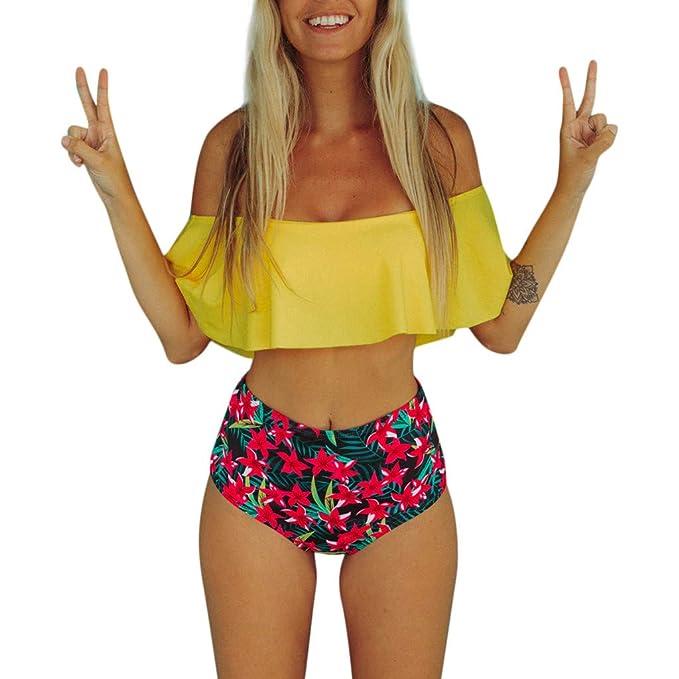 Geilisungren Bikini Mujer Dos Piezas, sin Tirantes Bañador ...