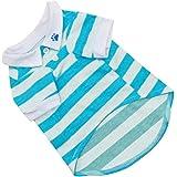 Pet Dog T-Shirt Clothes Lapel Stripe Puppy Summer Apparel