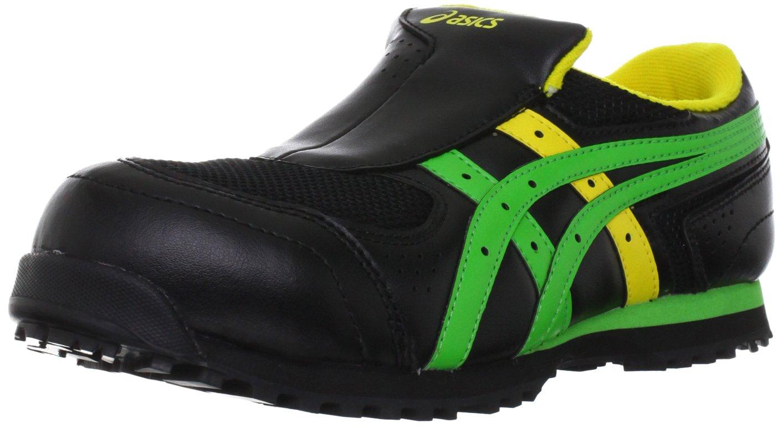 [アシックス] 安全靴 作業靴 ウィンジョブ FIS36S B0068FDMW4 27.5 cm|ブラック/グリーン