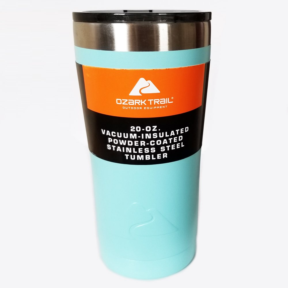 Turqouise - Ozark Trail 20 Ounce Powder Coated Stainless Steel Tumbler