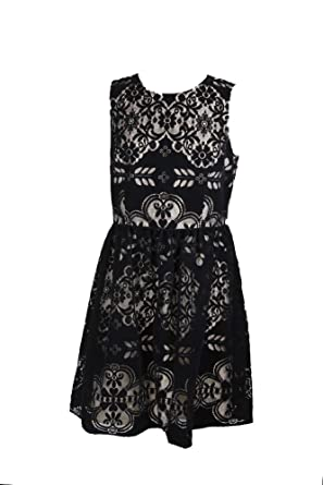 302773e1 Tommy Hilfiger Womens Velvet Lace Party Dress Black 12 at Amazon Women's  Clothing store: