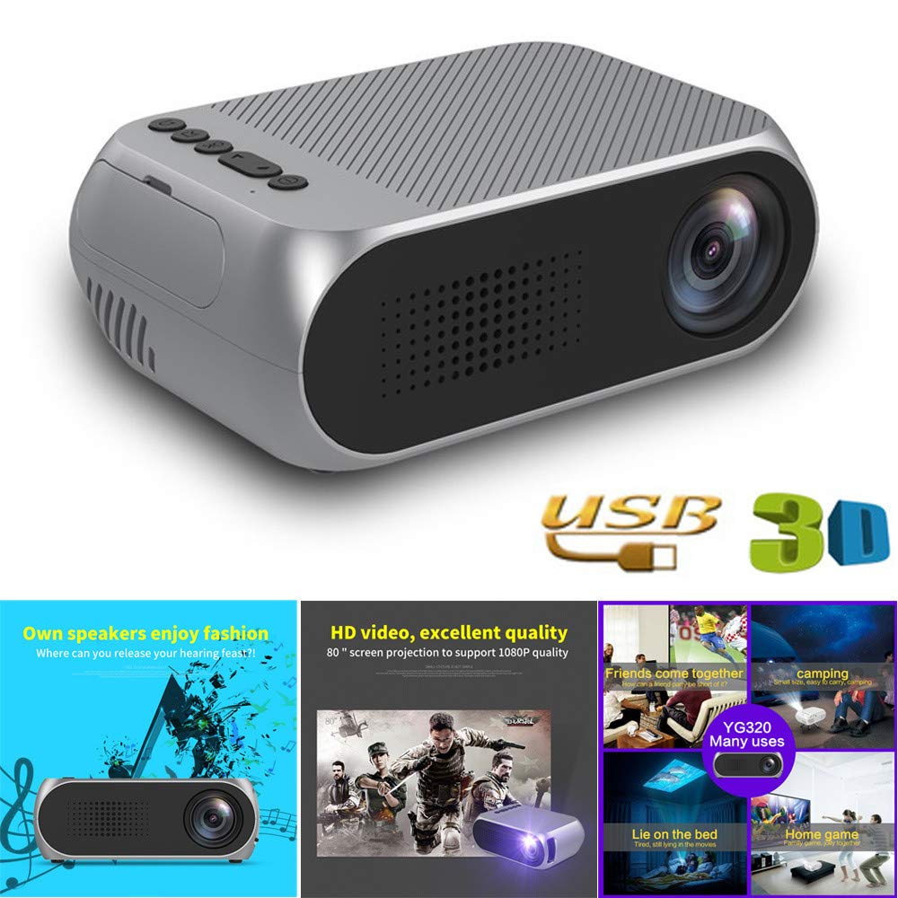 Factorys Mini Proyector, 2019 Actualizado Full HD 1080P 60 ...