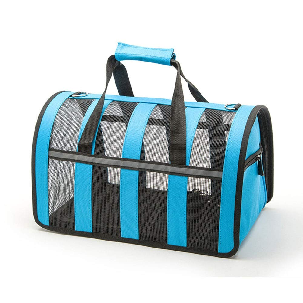 bluee SPet Backpack Foldable Outgoing Carrying Case Shoulder Bags Handbag Dog Bags Cat Cage (color   Black, Size   M)