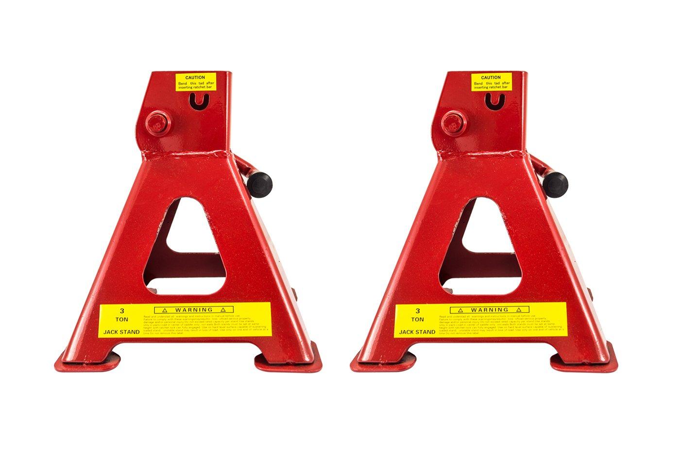 Coppia cavalletti cric auto altezza regolabile presa di posizione auto moto 3t
